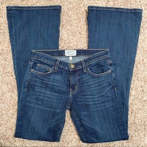 Current/Elliott Jeans - Current/Elliott The Low Bell Dark Wash Flare Jeans